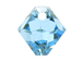 18 Swarovski 6301 8mm Faceted Bicone Pendant Aquamarine
