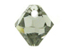 18 Swarovski 6301 8mm Faceted Bicone Pendant Black Diamond