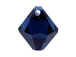 18 Swarovski 6301 8mm Faceted Bicone Pendant Dark Indigo