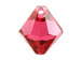 24 Swarovski 6301 6mm Faceted Bicone Pendant Indian Pink