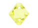18 Swarovski 6301 8mm Faceted Bicone Pendant Jonquil