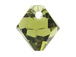 18 Swarovski 6301 8mm Faceted Bicone Pendant Khaki