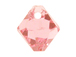 18 Swarovski 6301 8mm Faceted Bicone Pendant Light Rose