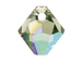 18 Swarovski 6301 8mm Faceted Bicone Pendant Black Diamond AB