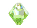 18 Swarovski 6301 8mm Faceted Bicone Pendant Peridot AB