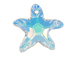 Crystal AB - 28mm Swarovski Starfish Pendant