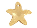 Crystal Golden Shadow - 20mm Swarovski Starfish Pendant