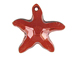 Crystal Red Magma - 20mm Swarovski Starfish Pendant