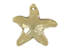 Crystal Silver Shade - 28mm Swarovski Starfish Pendant