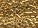 25 gram GOLD 24K PLATED Delica Seed Beads11/0