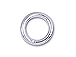 4mm Round SILVER FILLED Closed Jump Ring 22 Gauge