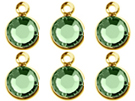 BULK -Gold Plated Swarovski Channel Birthstone Charms (CC6G)