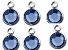 BULK -Silver Plated Swarovski Channel Birthstone Charms (CC6S)
