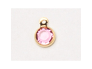 6.6mm - Gold Plated Swarovski Channel Birthstone Charms (CC4G)