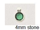6.6mm - Silver Plated Swarovski Channel Birthstone Charms (CC4S)