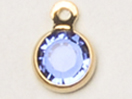 12mm - Gold Plated Swarovski Channel Birthstone Charms (CC8G)