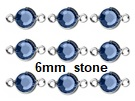 BULK - Silver Plated Swarovski Channel Birthstone Connectors