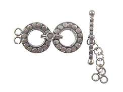 Closeout 70/%off 50sets Large Flower Toggle Clasp White Gold Plated Brass 20x30mm Bulk Sale Wholesale 055