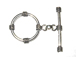30mm EXTRA LARGE Round Sterling Silver Toggle Clasp