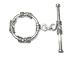 28mm Round EXTRA LARGE Sterling Silver Toggle Clasp
