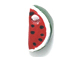 Watermelon - Teeny Tiny Peruvian Ceramic Bead