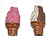 Ice Cream Cones - Teeny Tiny Peruvian Ceramic Beads