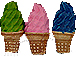 Mixed Color Ice Cream Cones - Teeny Tiny Peruvian Ceramic Beads