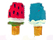 Mixed Color Popsicles - Teeny Tiny Peruvian Ceramic Bead