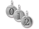 Number Charms - Silver Plated