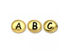 Alphabet Beads - Gold Plated