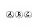 Alphabet Beads - Rhodium Plated