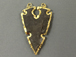 Fancy Arrowhead Jasper , Gold Plated Edged, Hand made Pendant 2.25 Inch Approx