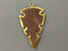 Arrowhead Jasper , Gold Plated Edged, Hand made Pendant 2.25 Inch Approx