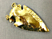 Large Gold dipped Jasper Arrowhead , Double Bail Pendant 2 inch Approx