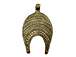 "Large Brass Ethiopian Pendant  2.5"" 65mm x 38mm approx, Brass Amulet Pendants"