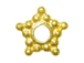 Vermeil 6.5mm 5 Point Star Bright Daisy