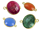 Vermeil Gemstone Bezel Links