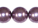 Lavender 16mm Round  Glass Pearls