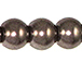Bronze 8mm Round Glass Pearls