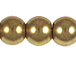 Gold 8mm Round Glass Pearls