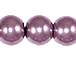 Lavender 8mm Round  Glass Pearls