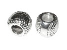 Large Hole Silver Beads
