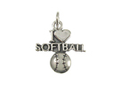 Softball - Sterling Silver Charms